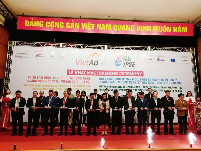 Khai mạc triển lãm quốc tế thiết bị và cn quảng cáo vietad 2019