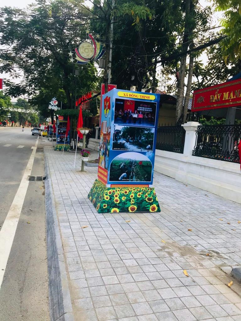 Huyện Đông Sơn đón bằng nông thôn mới hộp đường