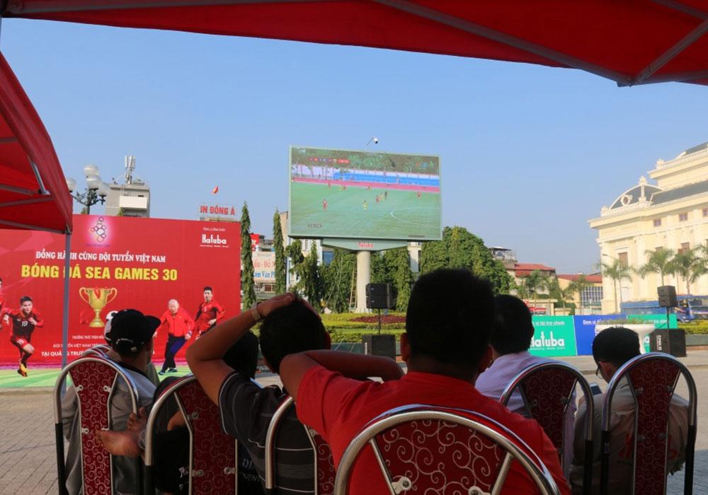 quảng cáo màn hình Led tại quảng trường Lam Sơn