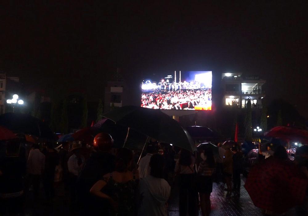 Sự kiện 990 năm Thanh Hóa tại quảng trường Lam sơn được truyền hình trực tiếp lên màn hình led hatuba