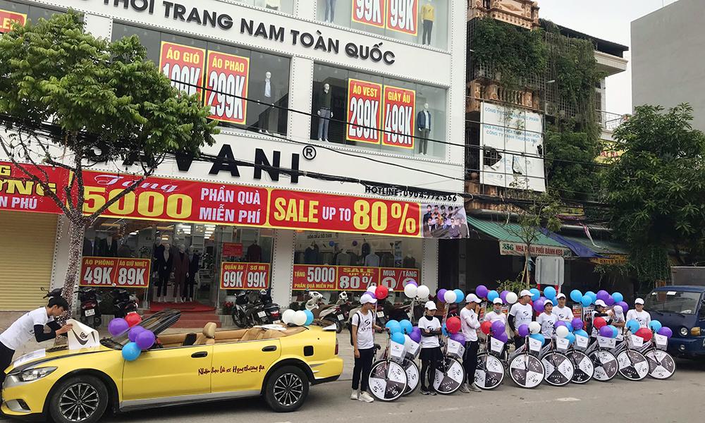 Hatuba tổ chức roadshow cho thời trang nam Savani Thanh Hóa