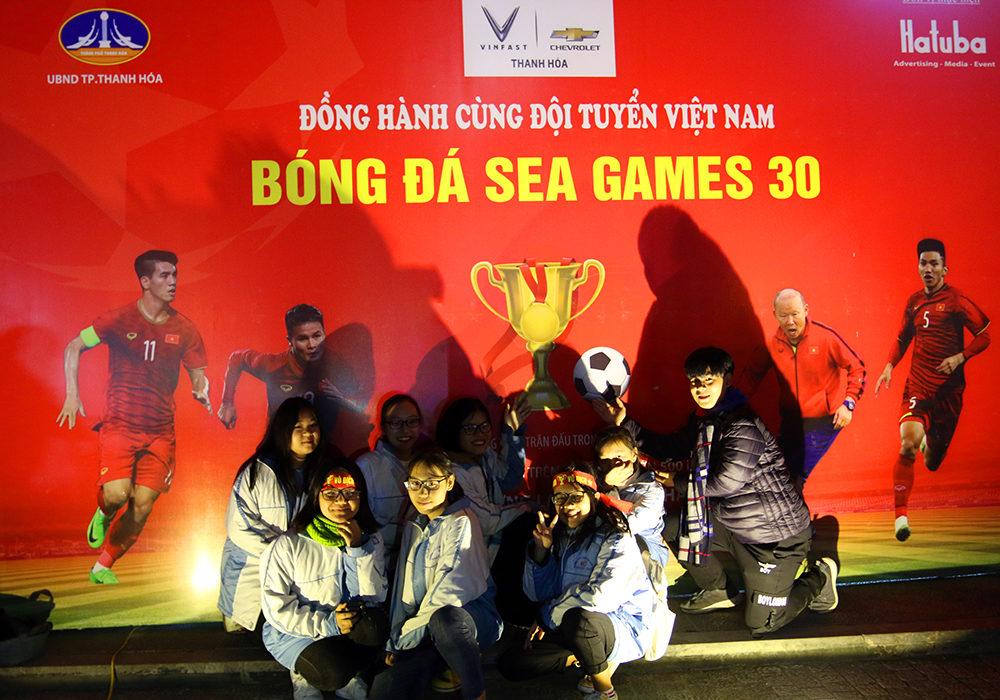 Hatuba tổ chức truyền hình trực tiếp giải Seagames 2019 trên màn hình led tại Quảng trường Lam Sơn