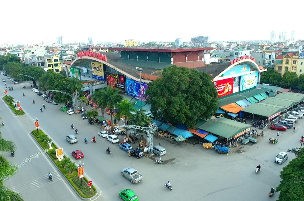 Pano quảng cáo ngoài trời tại chợ vườn hoa, Tp Thanh Hóa