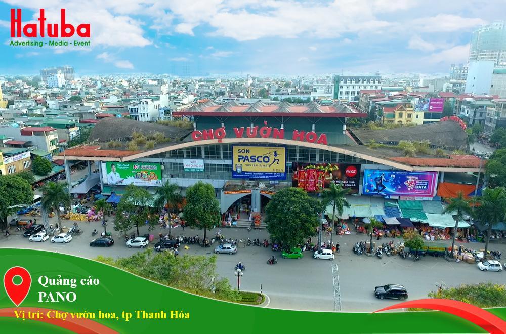Quảng cáo tại chợ vườn hoa Thanh Hóa